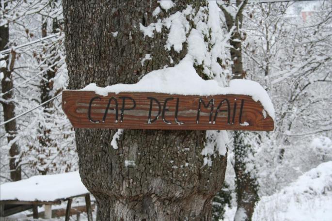 Cap Del Mail sous la neige