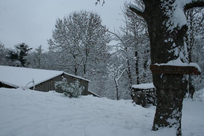 La ferme sous la neige